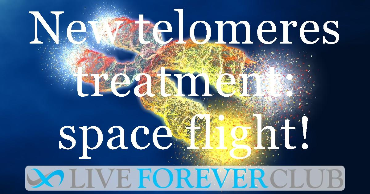 social image New telomeres lengthening treatment - space flight!